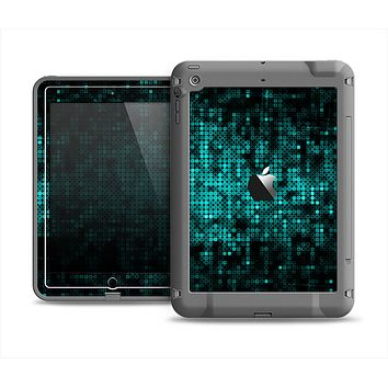 The Glowing Digital Green Dots Apple iPad Air LifeProof Fre Case Skin Set
