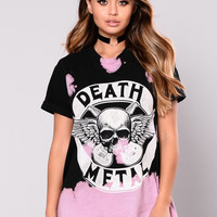 Death Metal Tunic - Black/Pink