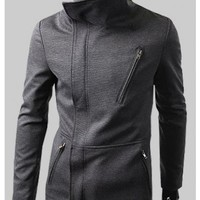 # Free Shipping # Men Grey Blends Jacket Coat M/L/XL/XXL HX140115g from Manclothingshop