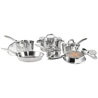 12-Piece Stainless Steel Cookware Set with Copper Bottom