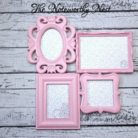 Pink Collage Frame // Pink frame // Pink decor // collage frame // unique frame / nursery frame // girls bedroom decor