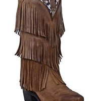 Dingo Tres Fringe Cowgirl Boots - Snip Toe - Sheplers