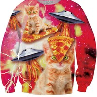 Bacon Pizza Space Cat Sweatshirt ?