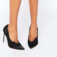 ASOS PURE Pointed Lace Heels at asos.com