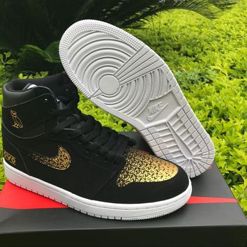 Air Jordan 1 Black OVO Basketball Shoes US7-12