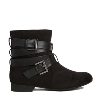 London Rebel Strap Ankle Boots -
