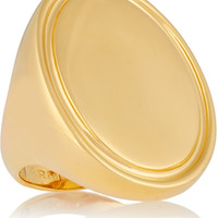 Arme De L'Amour - Oval Signet gold-plated ring