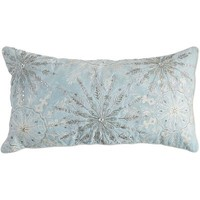 Frosted Noel Beaded Snowflake Pillow