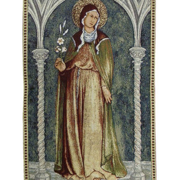 Saint Clare in Arch Tapestry Wall Hanging