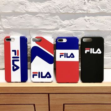 Luxury fashion sports brand Phone case For iphone X 7 8 Plus 7 5 se 6 6S Plus Europe USA trends Matte Hard PC Protect Back Cover