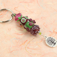 Keychain - Wild Flower Tree of Life