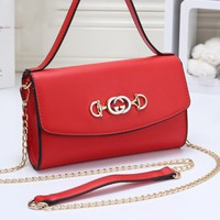 Gucci Casual fashion new solid color small square bag shoulder Messenger bag