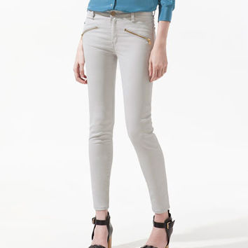 COATED TROUSERS WITH ZIPS - Collection - Woman - SALE - ZARA United States