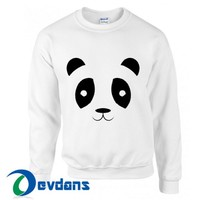 Cute Panda Face Sweatshirt Unisex Adult Size S to 3XL | Cute Panda Face