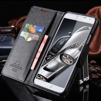 Note 3 5 New Fashion Luxury With Logo Flip Case For Samsung Galaxy Note 3 N9000 Note 5 Leather Stand Card Slot Cover Wallet Bags