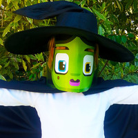 Halloween Witch paper activity. Instant download. Printable Witch mask. Make you own Witch banners and  bunting!
