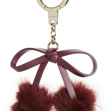 kate spade new york faux fur bow pom bag charm | Nordstrom