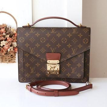 Louis Vuitton Bag Monceau Monogram Vintage Handbag SR0966