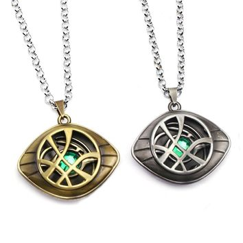 Avengers: Infinity War Doctor Strange Necklace Crystal Eye of Agamotto Pendant Fashion Necklaces Gift Jewelry Accessories