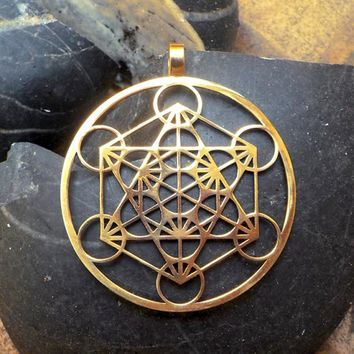 Metatron's Cube pendant  Silver plated necklaces & pendants with 60 cm chain for women