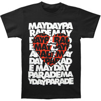 Mayday Parade Men's  Broken Heart T-shirt Black