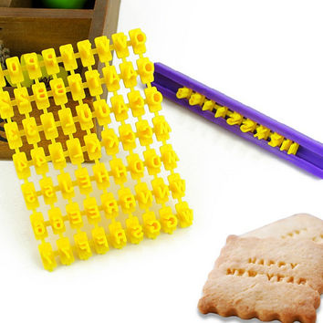 Biscuits Mould Alphabet Baking Tools Brush [6033517953]