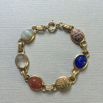 14K Gold Scarab Bracelet Childrens Jewelry