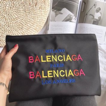33d7684122 Balenciaga New fashion colorful letter embroidery couple bag clu