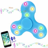 Bluetooth Speaker Fidget finger Spinner Luminous Flash spiner Stress Relieve autism Toys hand skinner for Smartphones Gift