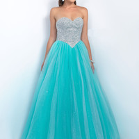 Embellished Bodice Prom Ball Gown by Blush Pink 5517