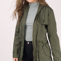 The Difference Hooded Trench Anorak