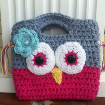 Toddler Girl Owl Purse/Birthday Gift/Little Girl Purse/Crochet