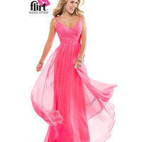 Flirt by Maggie Sottero 2014 Prom Dresses - Electric Pink Chiffon A-Line Prom Gown