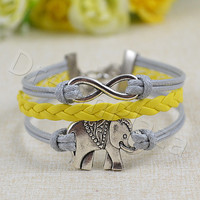 Infinity Bracelet, Elephant Bracelet,  Personalized Love Bracelet for Bestfriend gift