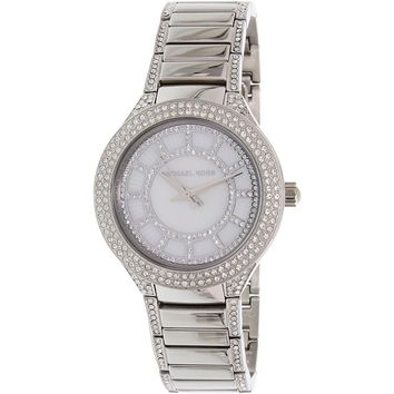 Michael Kors Women's Mini Kerry MK3441 Silver Stainless-Steel Quartz Fashion Watch