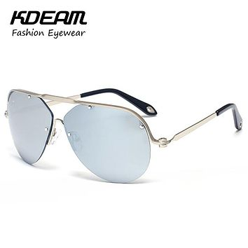 Iron Man Aviate Sunglasses Twisted Design Pilot Sunglass Men With Box Anti-UV Glasses For Driving