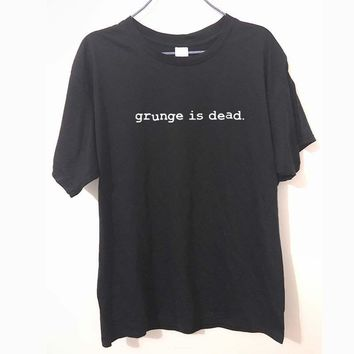 0483fd323ddbb New Summer Grunge is Dead kurt cobain nirvana 90s rock Funny T S