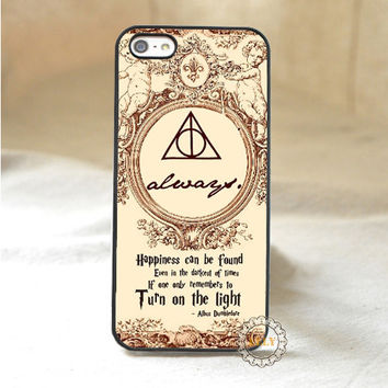 Harry Potter Happiness can be Founded fashion mobile phone case cover for iphone 4 4S 5 5S 5C SE 6 plus 6s plus 7 7 plus H1057
