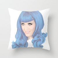 Katy Perry Throw Pillow by Grace Welburn
