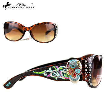 Montana West Sugar Skull Sunglasses