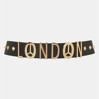 Topshop 'London Lettered' Belt | Nordstrom