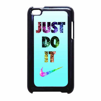 Nike Just Do It Cyan Bling iPod Touch 4th Generation Case