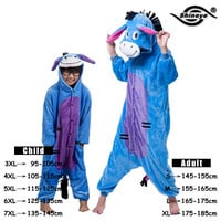 Unicorn Stitch Totoro Kigurumi Adult Unisex Flannel Hoodie Pajamas Costume Cosplay Cute Animal Onesuits Sleepwear For Women Men