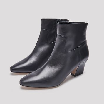 LORELLE BLACK LEATHER BOOTS