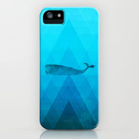 Whale iPhone & iPod Case by Deniz Erçelebi