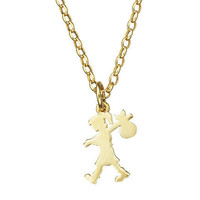 Karen Walker | Small Runaway Girl Pendant - Gold