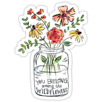'Flower Quote' Sticker by CollectionsbyH