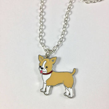 Chihuahua Charm Necklace-Chihuahua Lovers Gift-Chihuahua Jewelry-Petlovers gift-Dog Charm Jewelry-Dog Lovers Jewelry-Cute Color Dog Charm