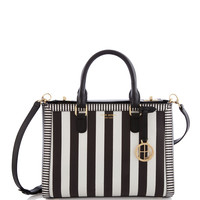 West 57th Turnlock Centennial Stripe Satchel