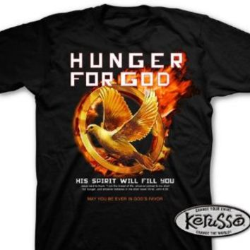 Kerusso Adult Christian T-shirt Hunger for God His Spirit Will